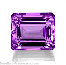 11mm x 9mm Natural Purple Amethyst Octagon Emerald Cut Gem Gemstone