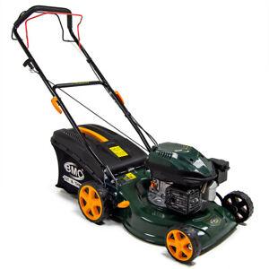 """Petrol Lawn Mower Self Propelled BMC 17"""" 43cm 127cc Wolf Engine Lawnmower"""