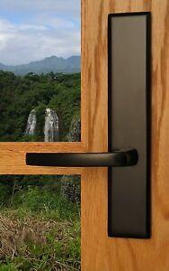 Catalina Privacy Door Lever Set & Back Plates; Bedroom and Bathroom Doors