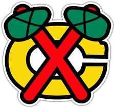 "Chicago Blackhawks NHL Hockey Bumper Window Locker Notebook Sticker Decal 5""X4"""