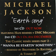 "MICHAEL JACKSON Display Poster PROMO ONLY Earth Song UK 12"" In-Store Only"