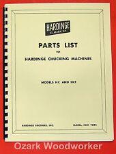 Hardinge Hc Amp Hct Chucking Lathe Parts Manual Below Serial 100 0337