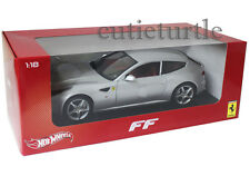 Hot Wheels Ferrari FF V12 Four Seater 1:18 Diecast Silver X5525
