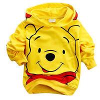 Kids Boys Girls Cartoon Hoodies Coat Jumper Tops Hooded Jacket Sweatshirt 2 - 9Y