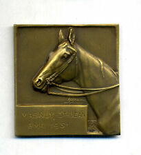 Belgique - Médaille Tête de cheval – Plaquette bronze 1951 par H. Heusers