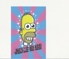 MR SPARKLE HOMER SIMPSON POWER CLEAN JAPANESE STICKER JOIN ME OR DIE! FUNNY GAG