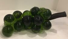 Vintage Lucite Acrylic green grapes Mcm