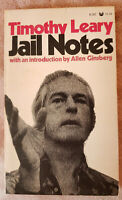 *SIGNED* TIMOTHY LEARY - JAIL NOTES BOOK (SOFTCOVER) RARE!!              LSD GUR