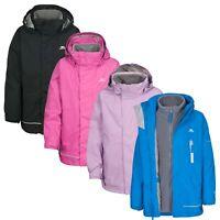 Trespass Prime Kids 3 in 1 Waterproof Jacket Boys Girls Raincoat with Hood