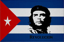 Aufnäher Kuba mit Che Guevara Revolution Fahne Flagge Aufbügler Patch 9 x 6 cm