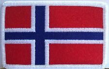 NORWAY Flag Patch With VELCRO® Brand Fastener Military Emblem #76