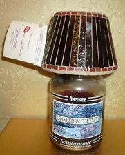 Home Interiors Candle Shade Topper Nib Amber Beautiful!