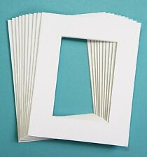 Pack Of 25 Picture Frame Mat Set 5 x 7 Pre Cut Picture Mats Photos Painting Art
