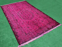 Turk Rug 68''x111'' Handknotted Fuschia Color Transition Modern Rug 5'7''x9'2''