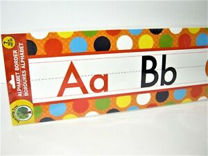 Alphabet Wall Border Teaching Tree School Classroom Kids Room or Nursery 7 Cards