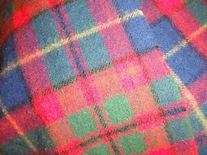 100% Wool Tartan Scarf With Fringe. Red/Blue & Green - Lovely & vibrant.