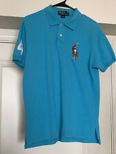 Preowned Polo Ralph Lauren Button Shirt Big Pony Men's Size XL XXL Turquoise