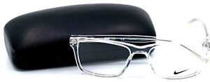 Nike 7246 900 Clear Square Full Rim Men's Eyeglasses 54-17-140