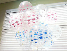 20X Clear Cloud Assorted Latex Transparent Balloons Baby shower Birthday Party