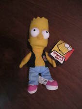 The Simpsons Bart Party Posse Band Member Hard Eyes Plush Toy NWT 9 Inches