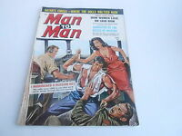 (ABC) APRIL 1960 MAN TO MAN mens adventure magazine KNIFE FIGHT ON AIRPLANE
