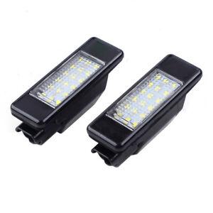 2pcs LED License Plate Lights Bumper Lamp Fit For Citroen DS3 Peugeot 106 1007