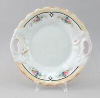 99840647 Porcellana Gebäck-schale Kuchen-Teller Dipinti Slesia 19.Jh.Rosen