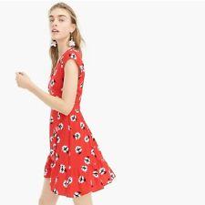 mini dress dandelion floral. 4P Nwt New Jcrew Petite ruffle-front