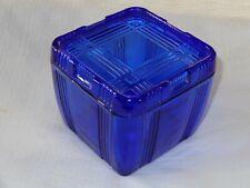 Criss Cross Hazel Atlas Cobalt Blue Depression Glass  Refrigerator Dish