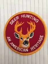 Vintage deer hunting, Deer hunting an American Heritage, Deer hunting patch