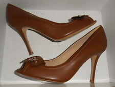 Long champ Brown Leather 3.5 inch Heels Women's EUR 38   (DISPLAY)