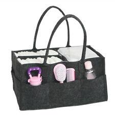 Portable Travel Folding Felt Diaper Caddy Nursery Storage Bag Nappy Organiser