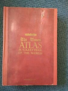 Antique Book - THE TIMES ATLAS & GAZETTEER of the WORLD 1922  SELFRIDGE EDITION