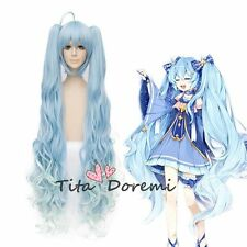 Halloween Wig Cosplay VOCALOID Snow miku blue mix clips style fashion Hair
