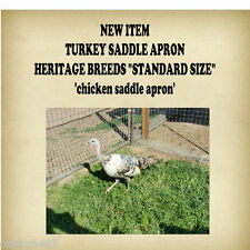 """NEW ITEM """"TURKEY""""  or    CHICKEN SADDLE APRON HATCHING EGGS BACK PROTECTION"""