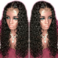 Wigs Curly Malaysian Virgin Human Hair Lace Front Wig Full  Wigs Baby Hair wig