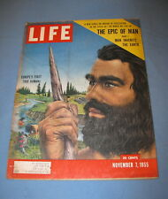 LIFE MAGAZINE NOVEMBER 7 1955 EPIC OF MAN FOOTBALL JAMES MICHENER ANDY GRIFFITH