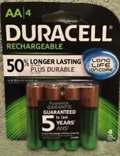 AA Duracell Rechargeable Batteries 4pk