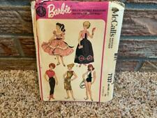 Barbie Doll Clothes Vintage McCalls Pattern #7137 Uncut Copyright by Mattel 1963