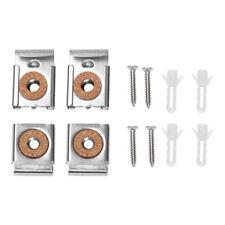 Hardware Unframed Mirror Cabinet Bracket Fix Clip Hanging Holder Glass Clamp