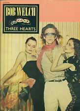 """BOB WELCH """"THREE HEARTS"""" PIANO/VOCAL/GUITAR CHORDS MUSIC BOOK RARE OUT OF PRINT!"""