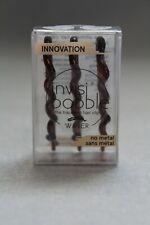 Invisibobble Waver Traceless Hair Clip No Metal Brown 3 per Box NEW NIB