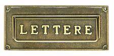 Cassetta postale posta buca lettere placca in ottone pieno con sportello