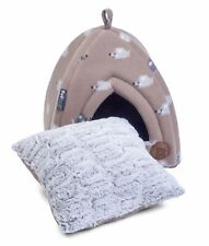 Petface Cat Igloo Bed Angry Mouse Fleece Kitten Cave Bedding Faux Fur Cushion