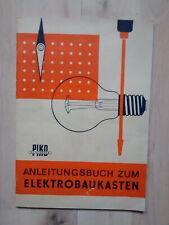 Anleitungsbuch zum Elektrobaukasten, PIKO, DDR, 1976!