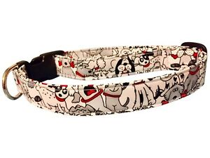 SPIFFY POOCHES Dog Collar CUTE DOGS ALL OVER ~B.O.G.O @ 50% OFF C DESCRIPTION~