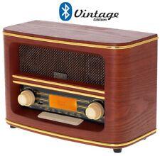 Nostalgie Retro Holz Radio mit Bluetooth 5.0 USB AUX Musikanlage Vintage Player