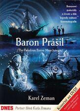 The Fabulous Baron Munchausen (Baron prasil) Karel Zeman English subt dvd SALE