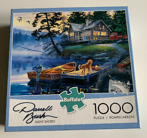Buffalo SILENT SHORES Darrell Bush 1000 Pc Jigsaw Puzzle - With Poster