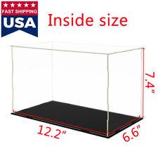 "US 12"" Big Acrylic Plastic Display Box Perspex Showcase Self-Assembly Dustproof"
